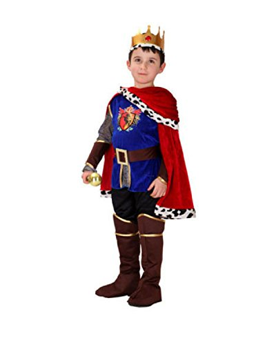 Rubber Johnnies Prince Charming Costume, Boys, Size 4-6 Years, King, Knight (7-9 Years) Blue/Red]()