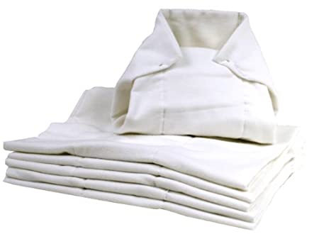 Kushies D1006 Washable Pre-folded Diapers, White ksh-150-0002