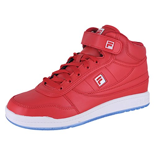 Fila Men's BBN 84 Ice Fashion Sneakers, Red, Faux Leather, Nylon, Rubber, 9 M