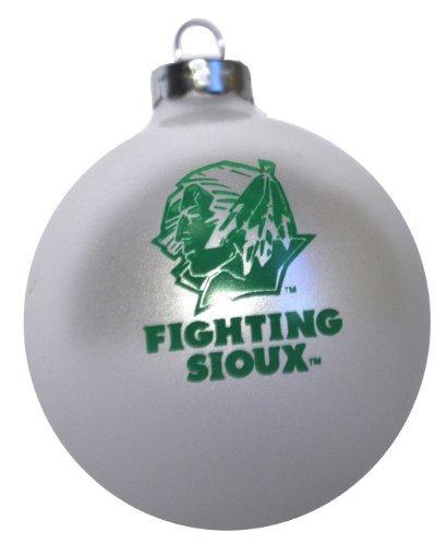 White University of North Dakota Fighting Sioux Christmas Ornament