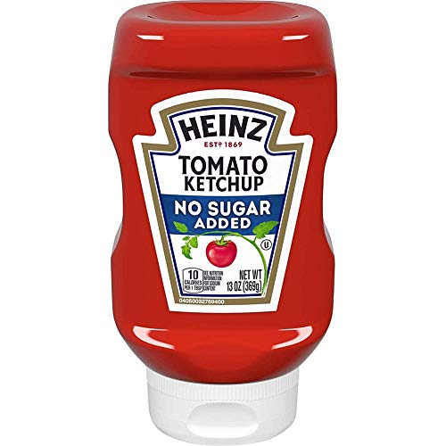 Heinz Ketchup, No Added Sugar, 13 Ounces (Pack of 2)
