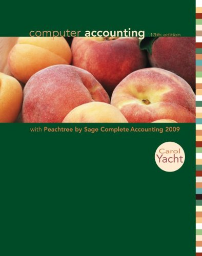 Computer Accounting with Peachtree Complete 2009 with CD-ROM