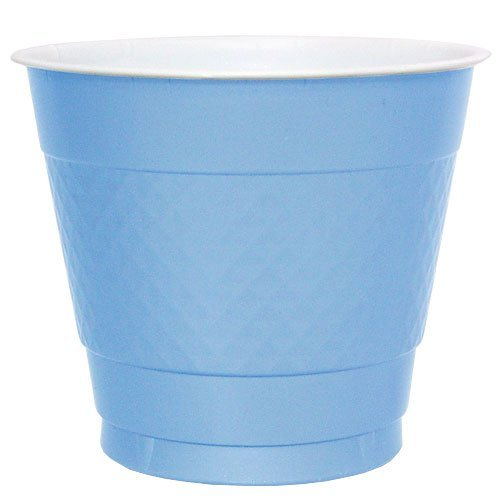 Hanna K. Signature Collection 50 Count Plastic Cup, 9-Ounce, Light Blue