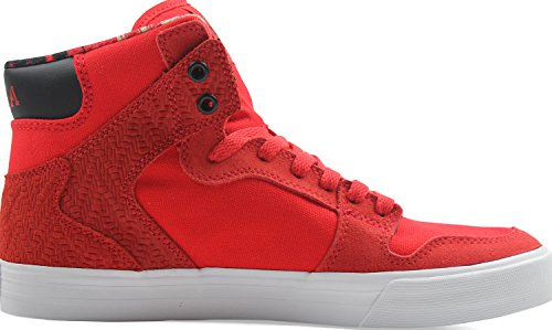 Supra Vaider LC Sneaker Rot-Weiss