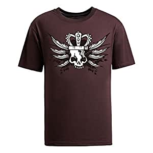 custom Summer Mens Coolest Skull Print Round Neck Short Sleeve Cotton T-shirts, 8 Colors Available