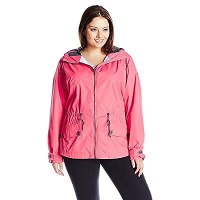Columbia Women's Plus Size Regretless Jacket, Bright Geranium, 1X at Women's Clothing store