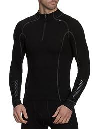 Helly Hansen Men\'s Freeze 1/2 Zip Turtleneck Shirt, Black, Medium