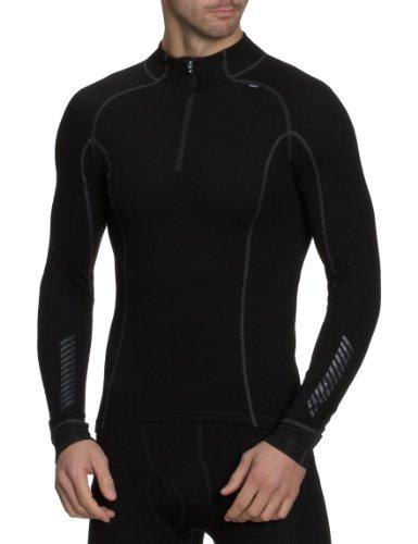 Helly Hansen Men's Freeze 1/2 Zip Turtleneck Shirt, Black, Small