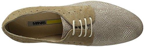 Manas Maratea, Zapatos de Cordones Derby para Mujer Gold (SIENA+CORDA)