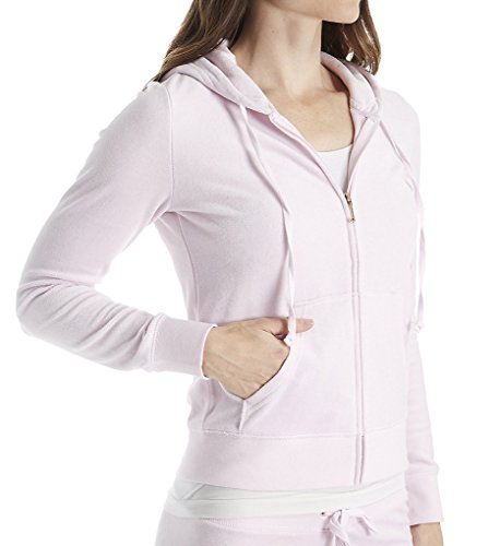 Juicy Couture Women's Robertson Velour Jacket Peek-A-Boo Outerwear