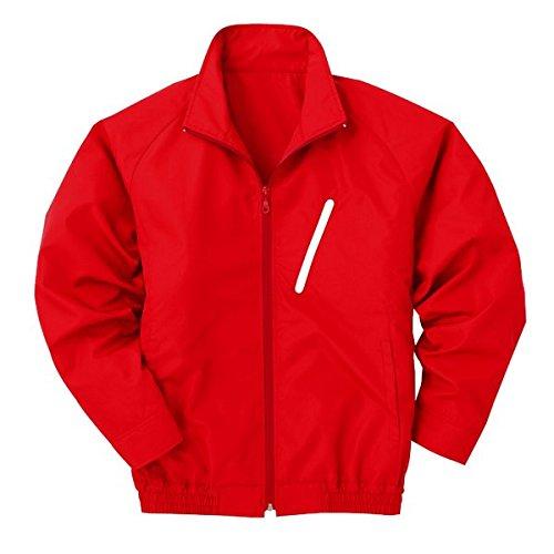 空調服 ポリエステル製長袖ブルゾン P-500BN (カラー:レッド(赤) サイズ XL) 電池ボックスセット   B077JFY3Z5