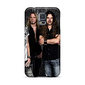 Samsung Galaxy S5 NwG15634PCfN Support Personal Customs Realistic Avantasia Band Series Shock Absorbent Hard Phone Cover -AlainTanielian
