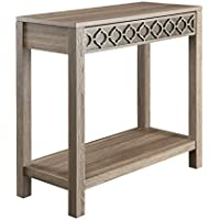 Office Star Helena Foyer Table with Mirror Accent Panel, Greco Oak Finish