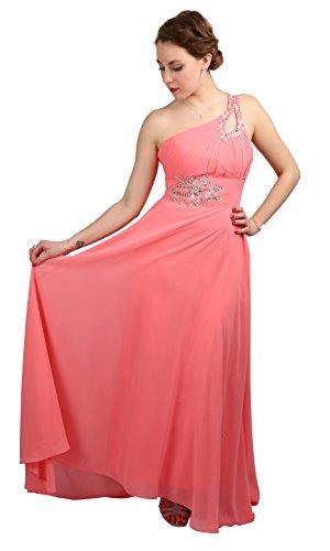 ROBLORA -  Vestito  - Monospalla - Basic - Donna rosso 34