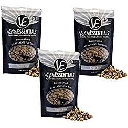 Vital Essentials Freeze-Dried Rabbit Bites Grain Free Limited Ingredient Dog Treats - 3 Pack, 2.0 Ounce Each Bag