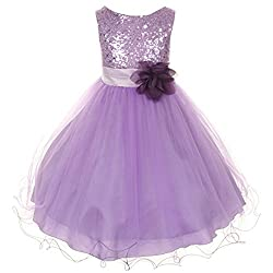 Big Girls Dress Sequin Glitter Beaded Dress