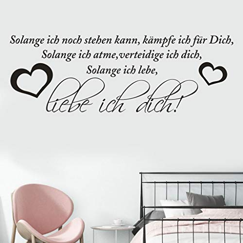 Iusun Liebe ICH Dich Wall Stickers DIY Carving Decal Removable Self-Adhesive Art - Bathroom Treatment Mirrors