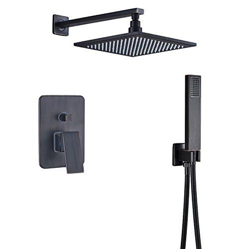 Rozin Oil Rubbed Bronze Bath 2-way Mixer Control Shower Set 8-inch Rainfall Showerhead with Handheld Spray
