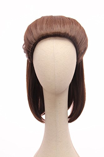 Price comparison product image Star Wars Episode VIII The Last Jedi Wig Rey Brown Wig for Adults