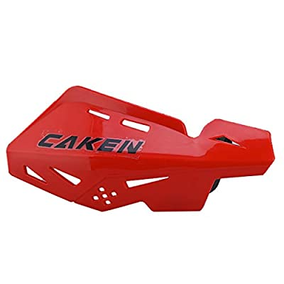 PRO CAKEN CNC Handle Bar Hand Guards Protector Dirt Bike Motocross ATV for SX SXF EXC XCW (Red): Automotive