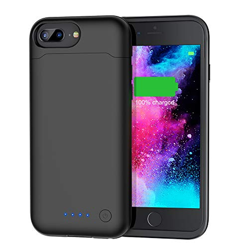 Battery Case for iPhone 7 Plus/8 Plus/6 Plus/6s Plus(5.5),Upgraded 8500mAh Protective Portable Slim Charging Case Rechargeable Extended Battery Pack for iPhone 8 Plus/7 Plus/6 Plus/6s Plus - Black
