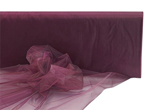 BalsaCircle 54-Inch x 40 Yards Burgundy Sheer Organza Fabric by The Bolt - Wedding Party DIY Sewing Craft Draping Supplies