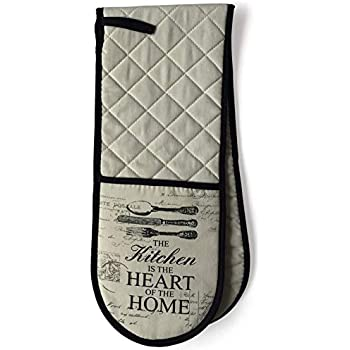 Vintage Double Oven Mitts Cooking Double Glove Heart of the Home
