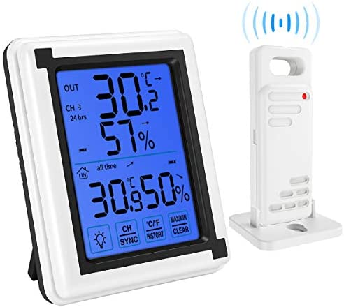 Thermometer Hygrometer Touchscreen Backlight Greenhouse product image