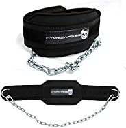 Gymreapers Dip Belt with Chain for Weightlifting, Pull Ups, Dips - Heavy Duty Steel Chain for Added Weight Tra