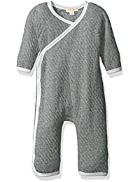One Pack Bodysuits-Burt's Bees Baby Baby Quilted Organic Kimono Coverall