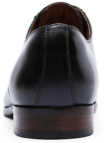 DESAI Men's Leather Dress Shoes Cap Toe Lace-up Oxford (11 M US, Black) by DESAI (Image #5)