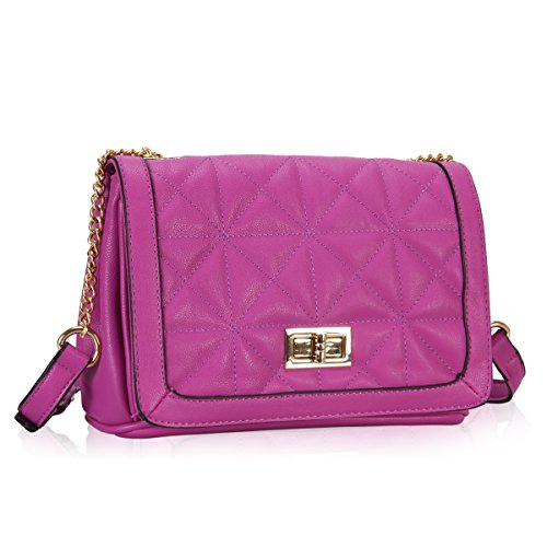 Wholesale Purses (Hynes Victory Ladies Quilted Cross Body Bag (Mauve))