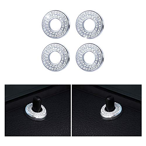 1797 Compatible Door Lock Pins Caps for BMW Accessories Parts Covers Decal Bling Interior Decorations 3 Series F30 G20 320i 325i 325ix 328d 328i 330i 335i xDrive AWD Women Men Crystal Silver Pack of 4