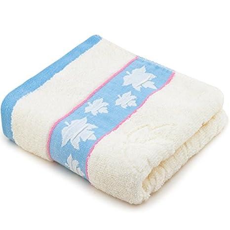 Mano towel-towel Home Textiles hoja de arce de algodón toalla lavado cara máscara 34 x 76 cm, color azul: Amazon.es: Hogar