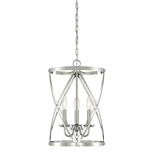 Westinghouse 6303800 Isadora Three-Light Indoor Chandelier, Brushed Nickel Finish Westinghouse Nickel Chandelier