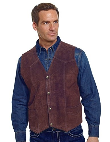Cripple Creek Men's Suede Leather Vest Chocolate -