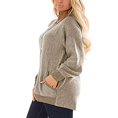 DOLNINE Women's Plus Size Sweatshirts Color Block Long Sleeve Pocket Shirts Tops at Women's Clothing store