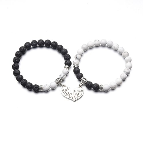 ZHEPIN Best Friend Bracelet,Relationship Bracelets-Love Formed by The Bracelet Symbolizes The Connected Heart