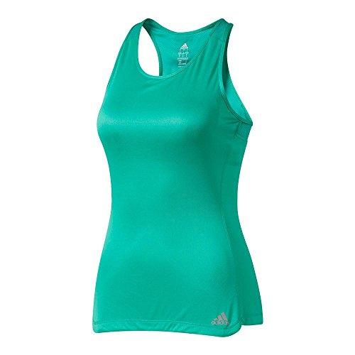 adidas Women's Running Response Built In Cup Tank Top, Core Green, (Adidas Tennis Bra)