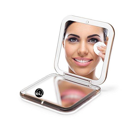 OMIRO Folding Compact Mirror, 1X/10X Magnification 3½