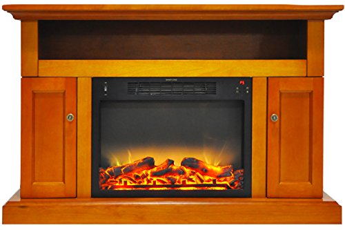 Cambridge CAM5021-2TEKLG2 Sorrento Electric Fireplace with an Enhanced Log Display and 47 In. Entertainment Stand in - Shopping Center Cambridge