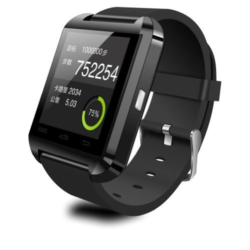 DREAMUSHOT U8 Bluetooth Smart Wristband Watch Phone for Android Samsung S2S3S4S5Note 2Note 3 HTC...(IOS System and Blackberry System Can Use Partial Function) (Black)