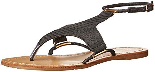 Women's Snake Polyurethane Sandal Qupid Flat Archer Black 03 Avwvadqx