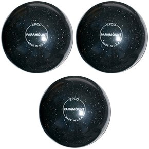 EPCO-Duckpin-Bowling-Ball-Speckled-Houseball-BlackBalls-3-Balls