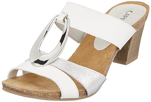 Caprice 27210 Mules Blanc 191 Silver Femme White zfzqxwPr