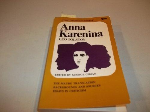 Anna Karenina (Norton Critical Editions) 1566193001 Book Cover