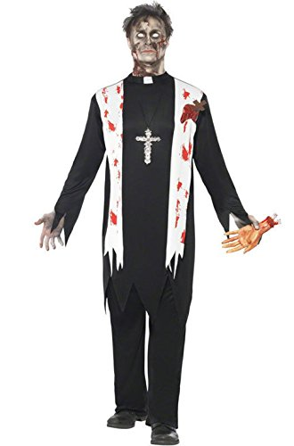 [Mememall Fashion Zombie Religious Priest Adult Halloween Costume] (Priest Halloween Costume Deluxe)