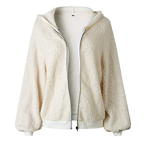 Felpa Felpa Rcool Plush invernale Top unita Winter Donna Ragazza tinta Outwear Cappotto Casual Sexy Beige Elegant Parka Giacca Warm Cerniera Giacca Cappotti rarTB