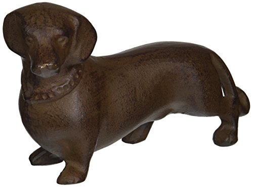 Abbott Collection Cast Iron Dachshund Figurine, Dark for sale  Delivered anywhere in USA