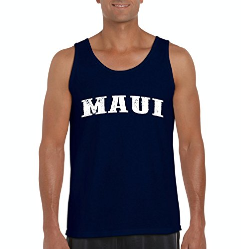 Ugo Maui Hawaii Travel Guide Flag What to do in Hawaii? Beaches Near Me Hawaiian Time Men's Tank - Outlet Stores Las Vegas Center